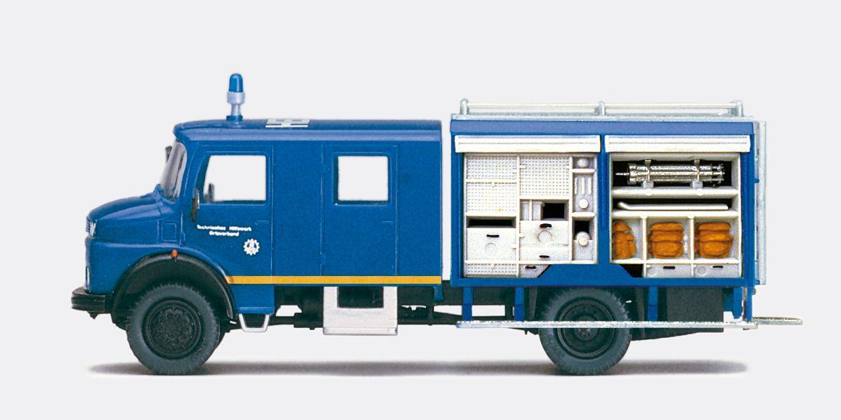 1:87 THW Mannschaftskraftwagen MKW 72, MB LA 911B mit Inneneinrichtung, Bausatz - Preiser 31168  | günstig bestellen bei Modelleisenbahn Center  MCS Vertriebs GmbH