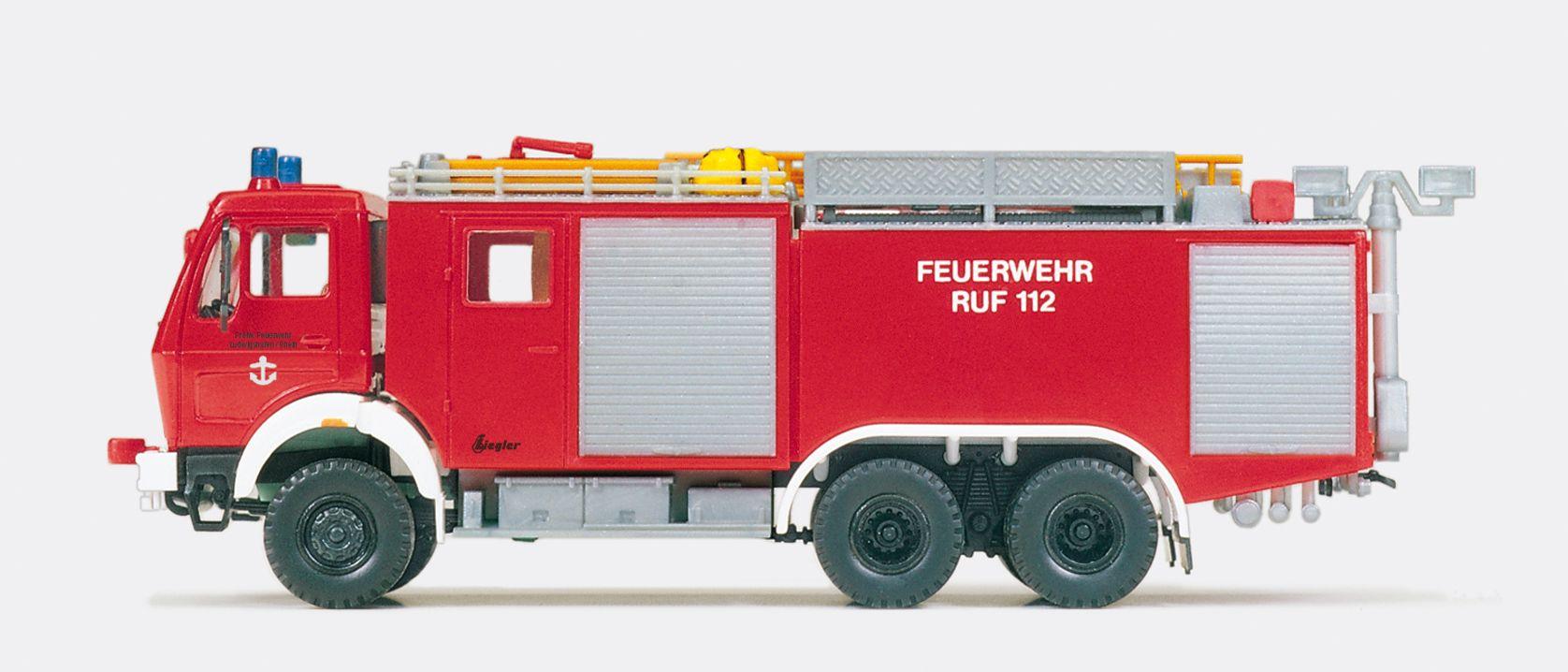 1:87 Feuerwehr Tanklöschfahrzeug TLF 48- 50-5 MB 2632 AK-38, Aufbau ZIEGLER, Bausatz - Preiser 31172  | günstig bestellen bei Modelleisenbahn Center  MCS Vertriebs GmbH