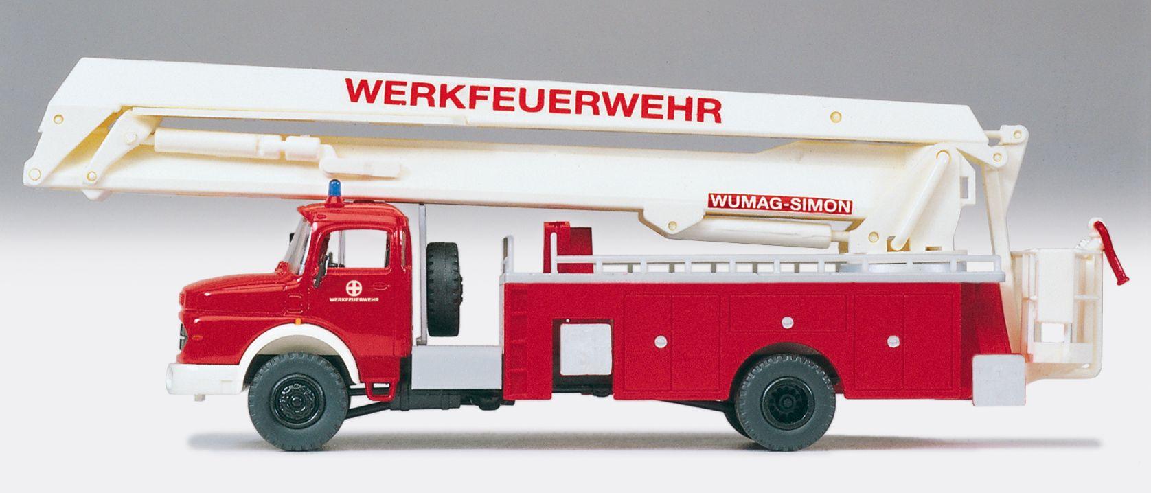 1:87 Feuerwehr Gelenkbühne MB LA 1924, WUMAG-SIMON, Bausatz - Preiser 31180    günstig bestellen bei Modelleisenbahn Center  MCS Vertriebs GmbH