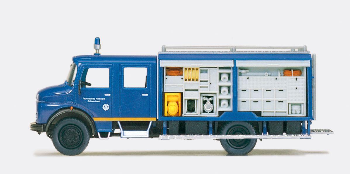 1:87 THW Gerätekraftwg. GKW 72 MB LA 1113 B, Aufbau Ziegler Bausatz - Preiser 31192  | günstig bestellen bei Modelleisenbahn Center  MCS Vertriebs GmbH