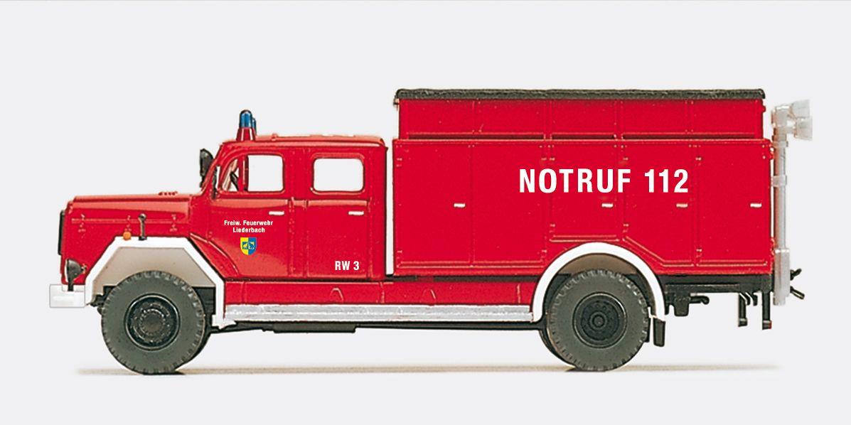 1:87 Feuerwehr Rüstwagen RW Magirus F 200D 16A, 3 St., Bausatz - Preiser 31204    günstig bestellen bei Modelleisenbahn Center  MCS Vertriebs GmbH