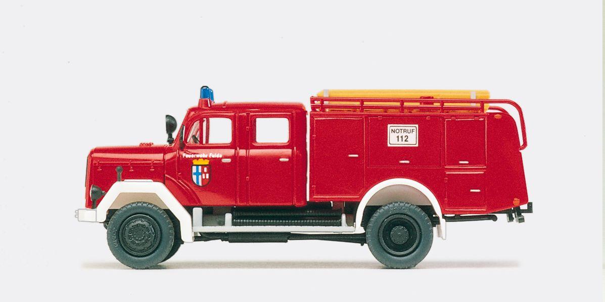 1:87 Feuerwehr Tanklöschfahrzeug TLF 16 Magirus F 150 D 10A, Bausatz- Preiser 31218  | günstig bestellen bei Modelleisenbahn Center  MCS Vertriebs GmbH
