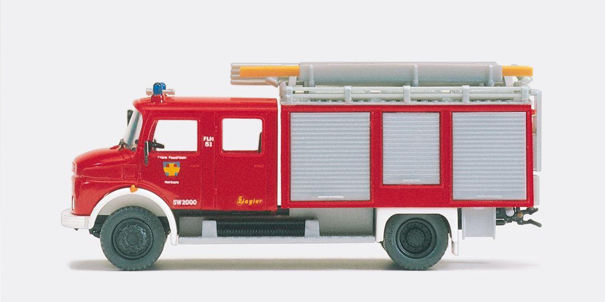 1:87 Feuerwehr Schlauchwagen SW 2000 MB LAF 1113 B-42, Aufbau ZIEGLER, Bausatz - Preiser 31246  | günstig bestellen bei Modelleisenbahn Center  MCS Vertriebs GmbH