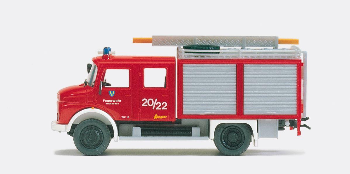 1:87 Feuerwehr Tanklösch- Fahrzeug, MB LAF 113 B736, Aufbau ZIEGLER, Bausatz - Preiser 31248  | günstig bestellen bei Modelleisenbahn Center  MCS Vertriebs GmbH