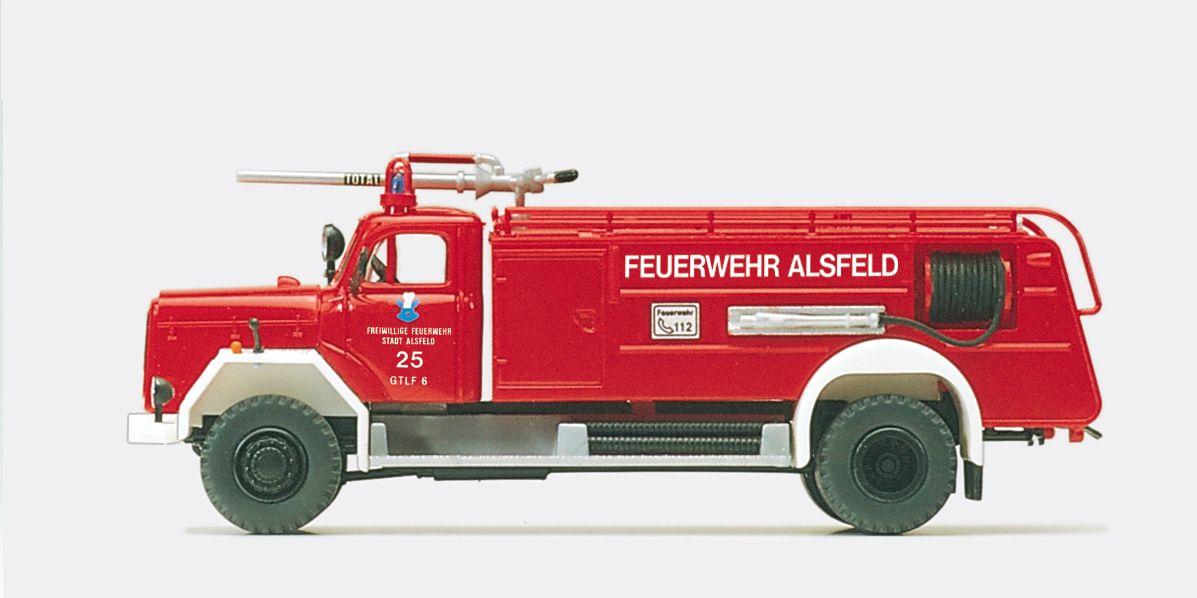 1:87 Feuerwehr Großtanklöschfahrzeug GTLF 6-24 (ZB 6-24),Hessen Magirus F 200D 16A, Bausatz - Preiser 31260  | günstig bestellen bei Modelleisenbahn Center  MCS Vertriebs GmbH