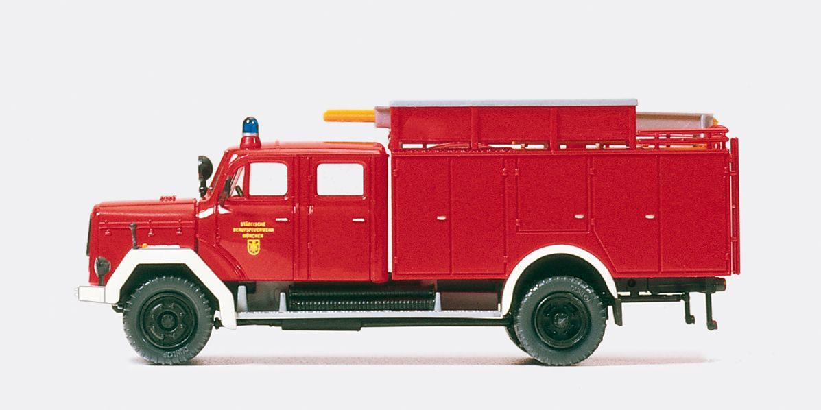 1:87 Feuerwehr Trockentank- Löschfahrzeug TroTLF 16, Magirus 150D, Bausatz - Preiser 31261  | günstig bestellen bei Modelleisenbahn Center  MCS Vertriebs GmbH
