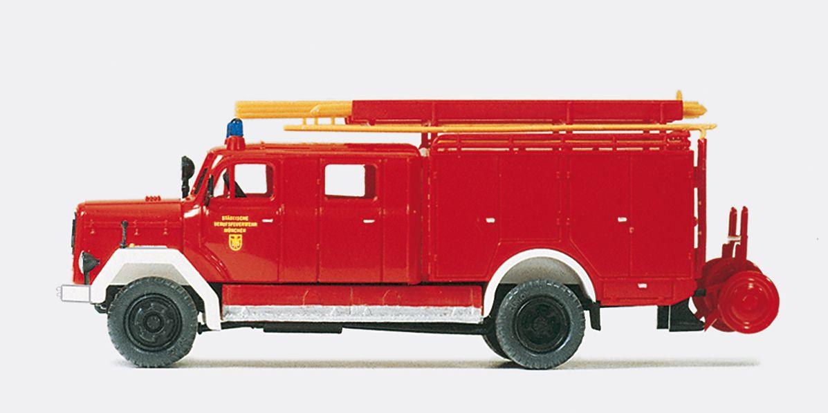 1:87 Feuerwehr Löschgruppen- Fahrzeug Magirus F Mercur 150A Bausatz - Preiser 31263    günstig bestellen bei Modelleisenbahn Center  MCS Vertriebs GmbH