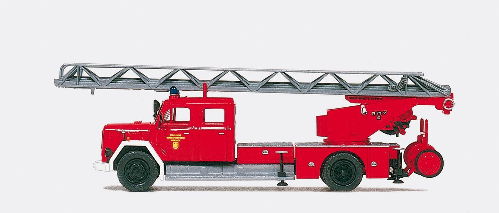 1:87 Feuerwehr Drehleiter DL30 Magirus Deutz F 150 D 10 Staffelfahrerhaus, Bausatz - Preiser 31265    günstig bestellen bei Modelleisenbahn Center  MCS Vertriebs GmbH