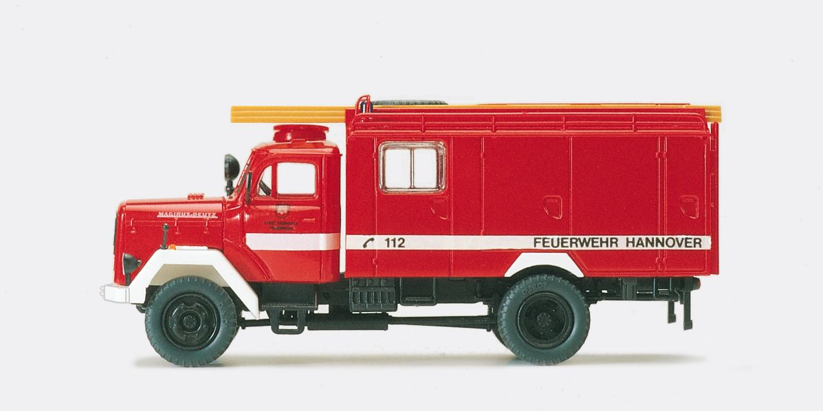 1:87 Feuerwehr Löschgruppen- Fahrzeug LF 16 TS, Magirus Mercur 125A, Bausatz - Preiser 31272    günstig bestellen bei Modelleisenbahn Center  MCS Vertriebs GmbH