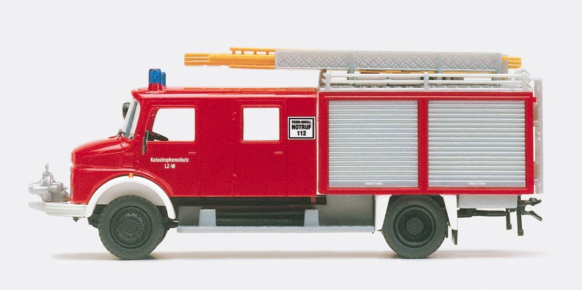 1:87 Katastrophenschutz Löschgruppenfahrzeug LF 16 TS, MB Aufbau Lentner, Bausatz - Preiser 31280  | günstig bestellen bei Modelleisenbahn Center  MCS Vertriebs GmbH