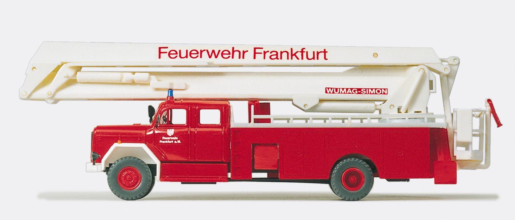 1:87 Feuerwehr Gelenkbühne Magirus F200 D 16, Wumag-Simon Bausatz - Preiser 31292    günstig bestellen bei Modelleisenbahn Center  MCS Vertriebs GmbH