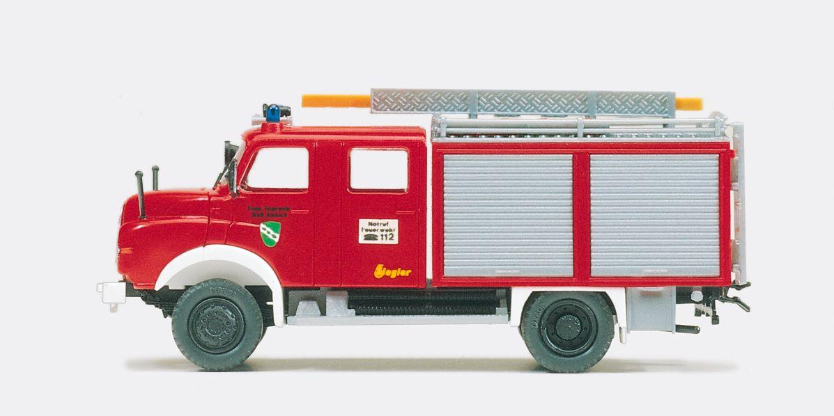 1:87 Feuerwehr Tanklöschfahrzeug TLF 16- 25 MAN 11.192 HALF, Aufbau Ziegler, Bausatz - Preiser 31298  | günstig bestellen bei Modelleisenbahn Center  MCS Vertriebs GmbH