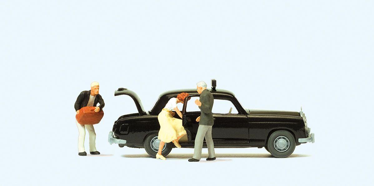1:87 MB 220 S Taxi mit Fahrer und Fahrgästen - Preiser 33252 Fertigmodell | günstig bestellen bei Modelleisenbahn Center  MCS Vertriebs GmbH