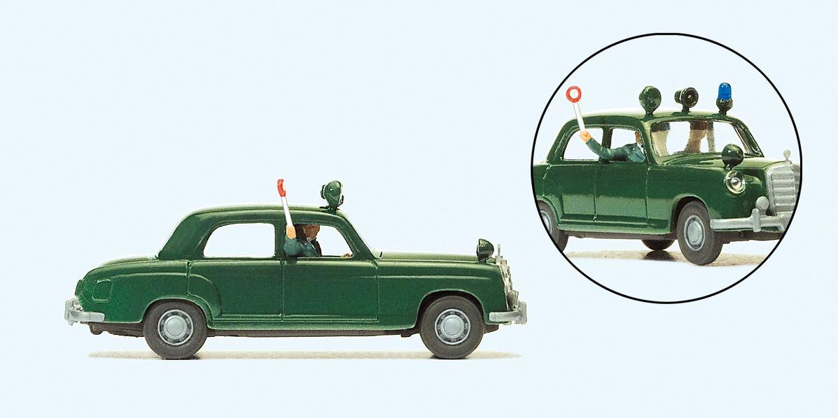 1:87 MB 220 S Polizei mit 2 Polizisten - Preiser 33253 Fertigmodell | günstig bestellen bei Modelleisenbahn Center  MCS Vertriebs GmbH