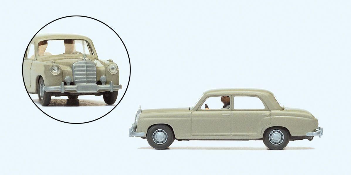 1:87 MB 220 S mit Fahrer und Beifahrerin - Preiser 33254 Fertigmodell | günstig bestellen bei Modelleisenbahn Center  MCS Vertriebs GmbH
