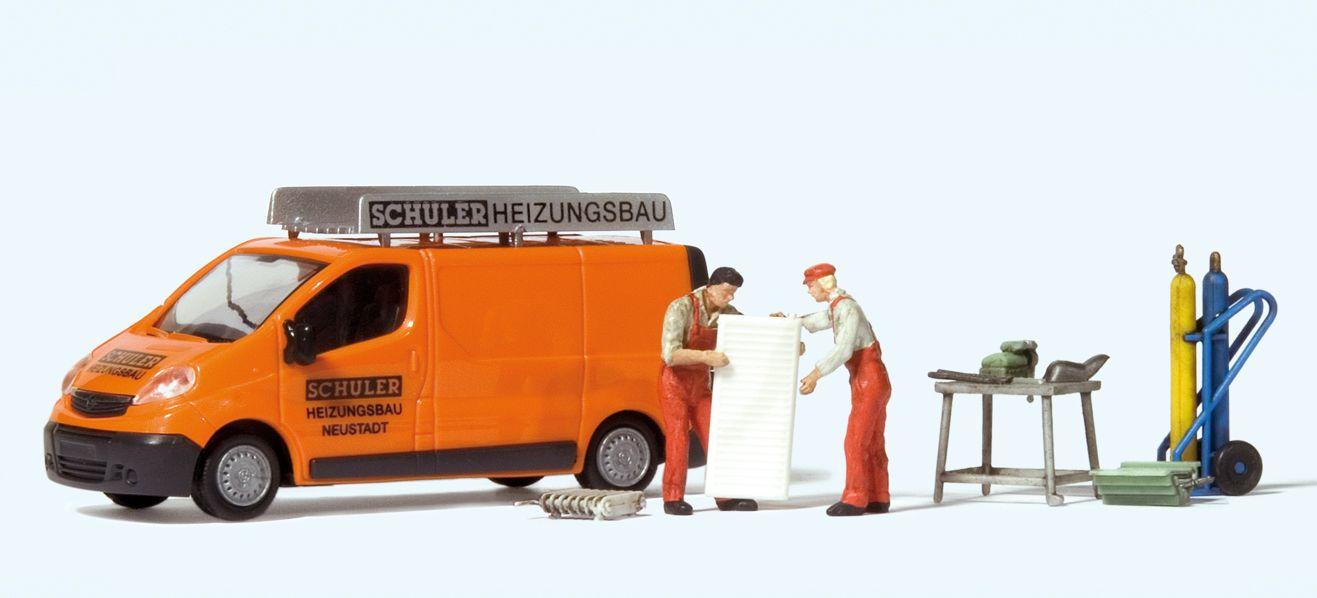 1:87 Opel Vivaro Schuler Heizung  | günstig bestellen bei Modelleisenbahn Center  MCS Vertriebs GmbH