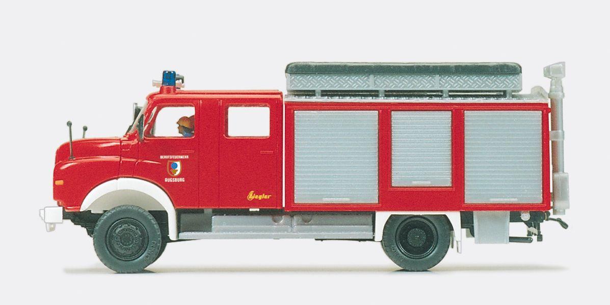 1:87 Feuerwehr Rüstwagen RW-Öl MAN 11.168 HALF,Aufbau Ziegler Fertigmodell - Preiser 35006    günstig bestellen bei Modelleisenbahn Center  MCS Vertriebs GmbH