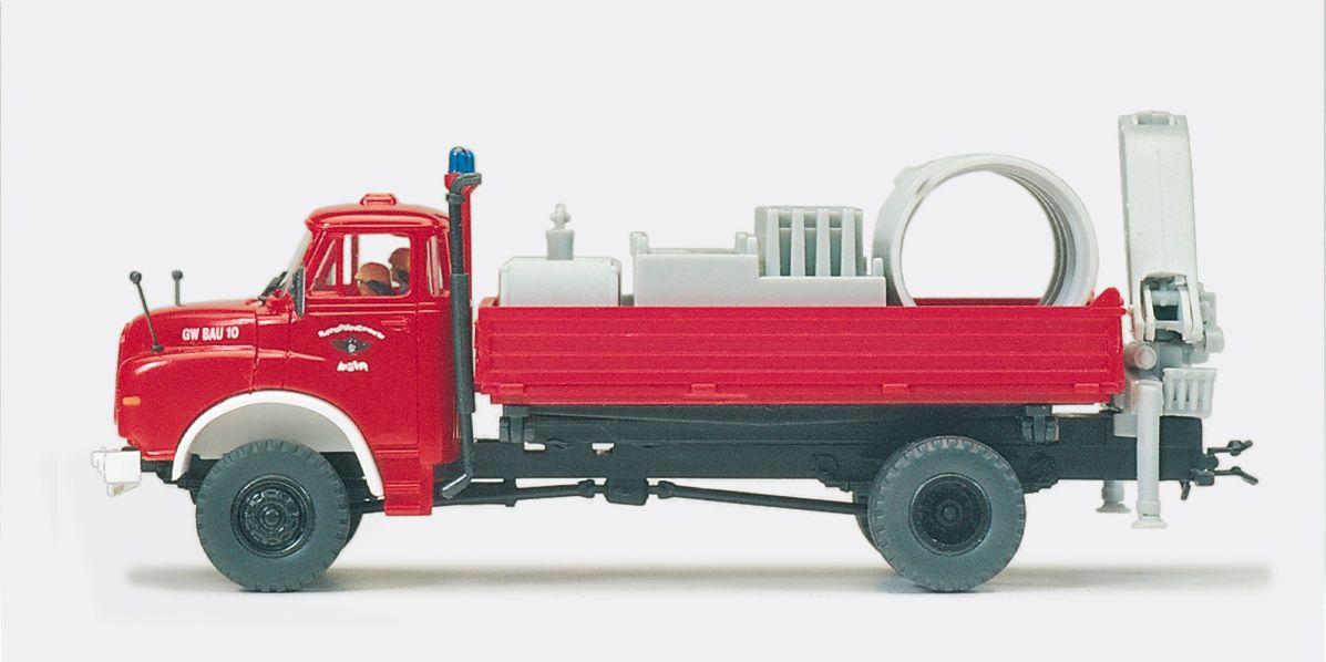 1:87 Feuerwehr Gerätewagen Bau MAN 9.168 HAK Fertigmodell - Preiser 35007    günstig bestellen bei Modelleisenbahn Center  MCS Vertriebs GmbH