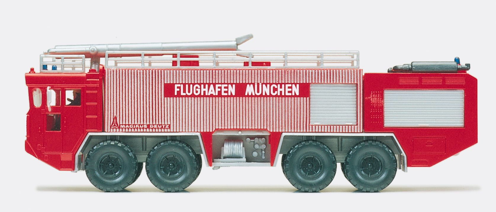 1:87 Feuerwehr Flugplatz-Löschfahrzeug FLF 80-200, Faun, Aufbau Mag.- Deutz, Flughafen München, Fertigmodell - Preiser 35008  | günstig bestellen bei Modelleisenbahn Center  MCS Vertriebs GmbH