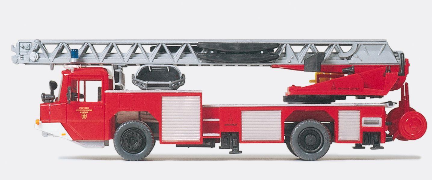 1:87 Feuerwehr Drehleiter DLK 23-12 n.B. Magirus, Fertigmodell- Preiser 35012    günstig bestellen bei Modelleisenbahn Center  MCS Vertriebs GmbH