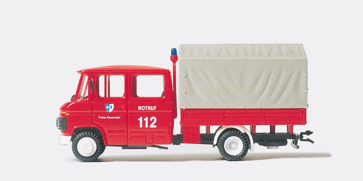 1:87 Feuerwehr GW Nachschub MB L 407D, Fertigmodell- Preiser 35015    günstig bestellen bei Modelleisenbahn Center  MCS Vertriebs GmbH