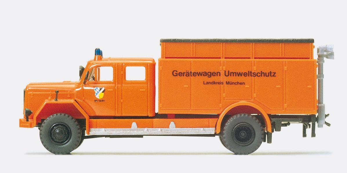 1:87 Feuerwehr Gerätewagen Umweltschutz Magirus F 200 D 16 A Fertigmodell - Preiser 35016    günstig bestellen bei Modelleisenbahn Center  MCS Vertriebs GmbH