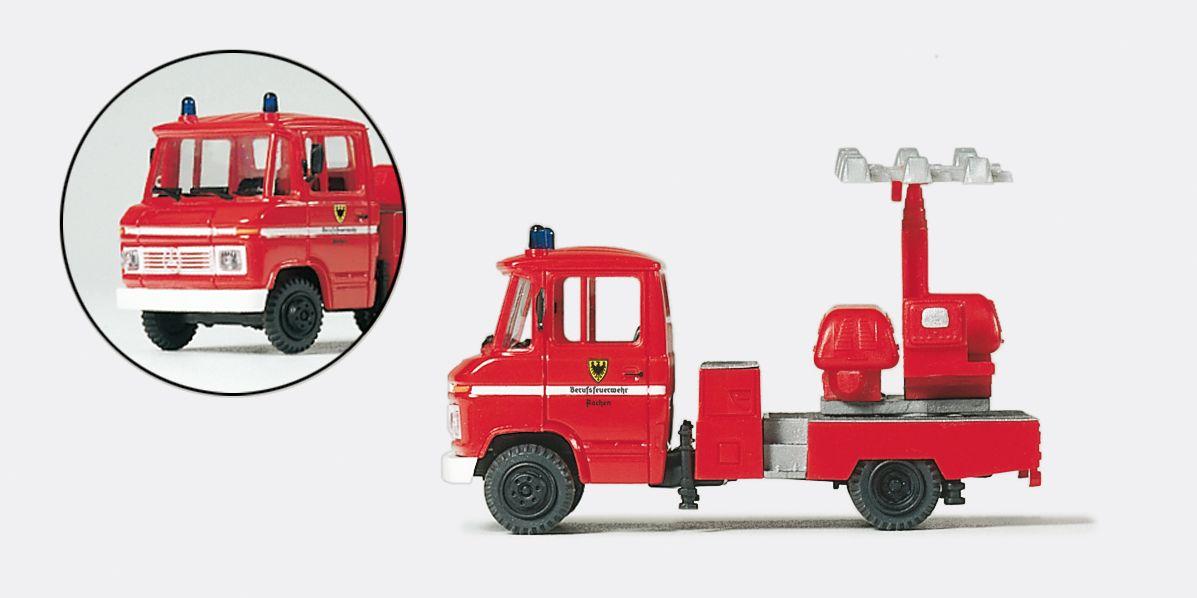 1:87 Feuerwehr Gerätewagen GW Licht MB 408 B, Lichtanlage KULI Fertigmodell - Preiser 35019    günstig bestellen bei Modelleisenbahn Center  MCS Vertriebs GmbH