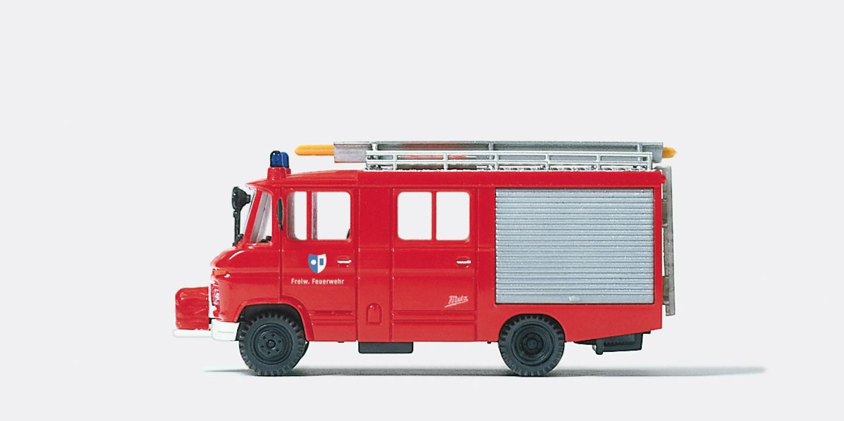 1:87 Feuerwehr Löschgruppenfahrzeug LF 8 MB 408, Aufbau Metz Fertigmodell - Preiser 35021    günstig bestellen bei Modelleisenbahn Center  MCS Vertriebs GmbH