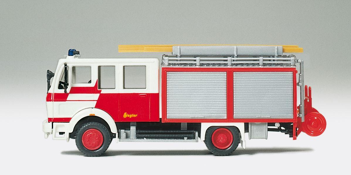 1:87 Feuerwehr Löschgruppenfahrzeug LF16 MB 1222 AF,Aufbau Ziegler Feuerwehr Frankfurt, Fertigmodell- Preiser 35022    günstig bestellen bei Modelleisenbahn Center  MCS Vertriebs GmbH