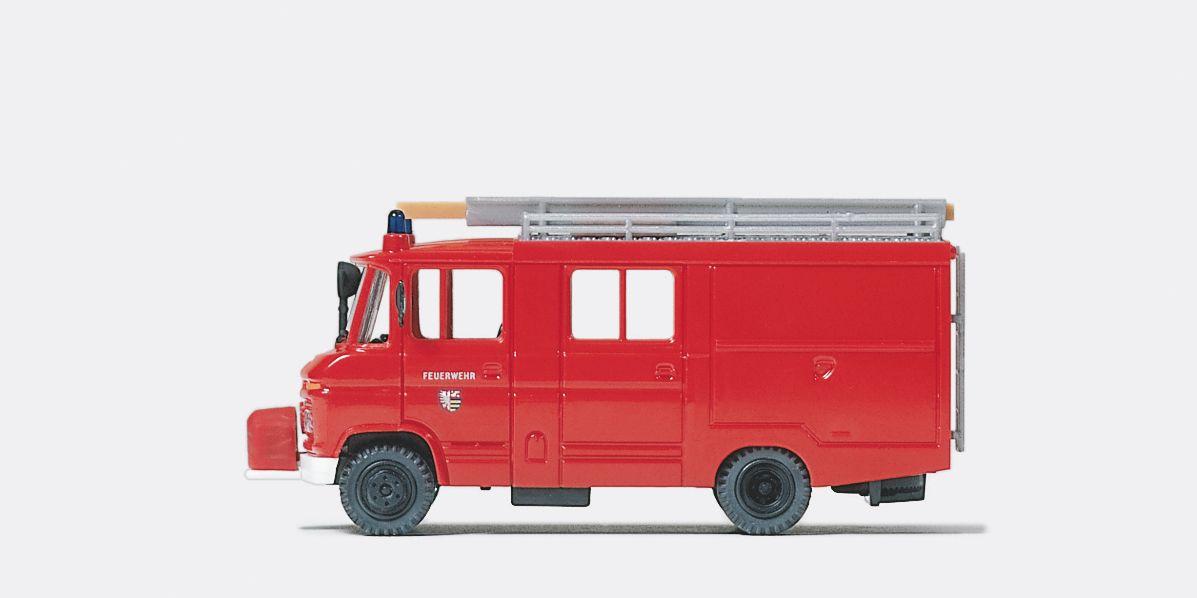1:87 Feuerwehr Löschgruppenfahrzeug LF 8 MB 408 D mit Falttüren Fertigmodell - Preiser 35027    günstig bestellen bei Modelleisenbahn Center  MCS Vertriebs GmbH
