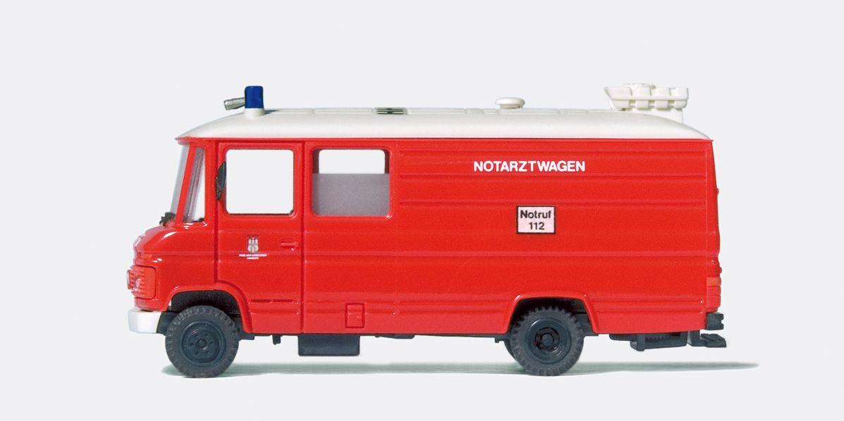1:87 Notarztwagen MBL613D Hamburg  | günstig bestellen bei Modelleisenbahn Center  MCS Vertriebs GmbH