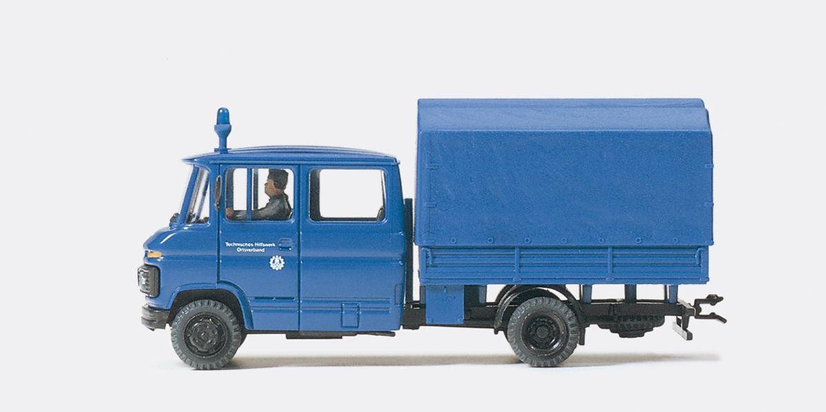 1:87 THW I-Truppwagen MB L 407 Fertigmodell- Preiser 37007  | günstig bestellen bei Modelleisenbahn Center  MCS Vertriebs GmbH
