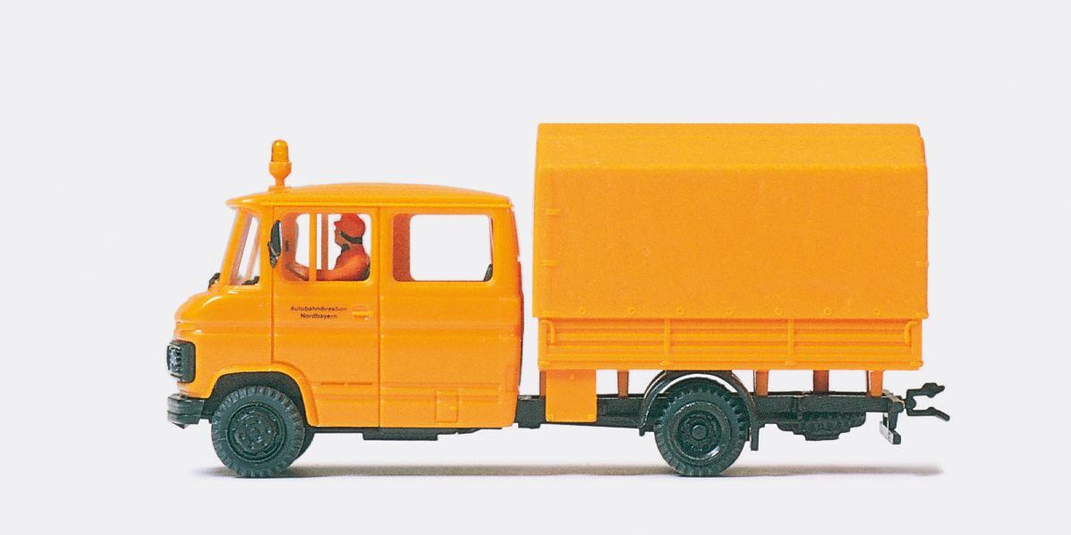 1:87 Kommunal MB 508 mit Doppel kabine, Fertigmodell- Preiser 37018  | günstig bestellen bei Modelleisenbahn Center  MCS Vertriebs GmbH
