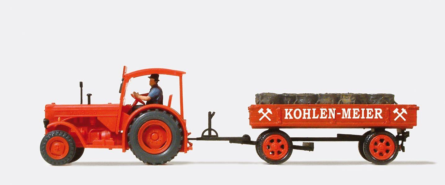 1:87 Hannomag R 55 mit Hänger + Ladung, Kohlen-Meier, rot Fertigmodell - Preiser 38041  | günstig bestellen bei Modelleisenbahn Center  MCS Vertriebs GmbH