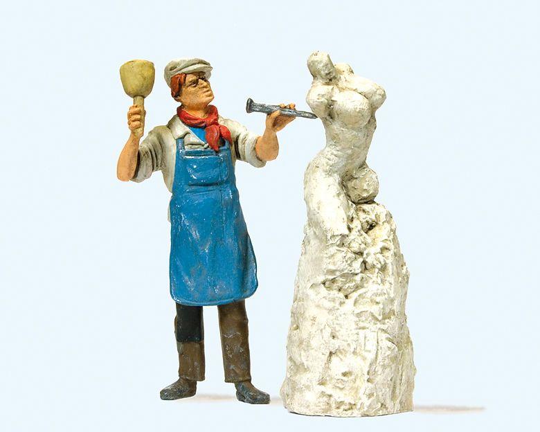 1:22,5 Bildhauer mit Skulptur - Preiser 44901  | günstig bestellen bei Modelleisenbahn Center  MCS Vertriebs GmbH
