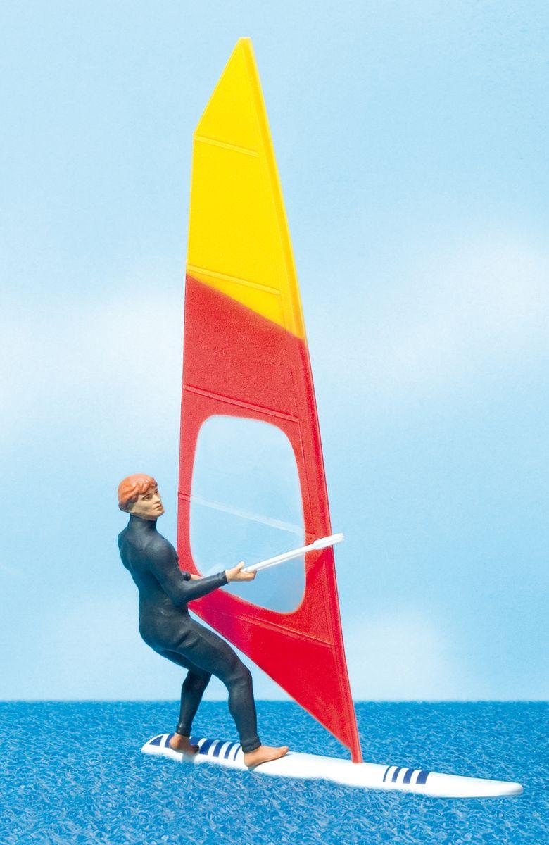1:22,5 Windsurfer mit Surfbrett – Preiser 44927    günstig bestellen bei Modelleisenbahn Center  MCS Vertriebs GmbH