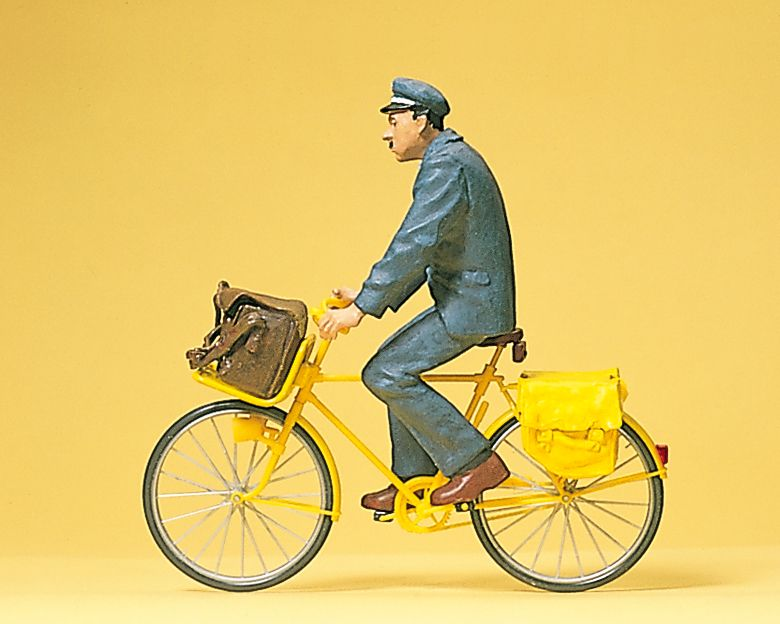 1:22,5 Franz. Postbote,Fahrrad - Preiser 45073  | günstig bestellen bei Modelleisenbahn Center  MCS Vertriebs GmbH
