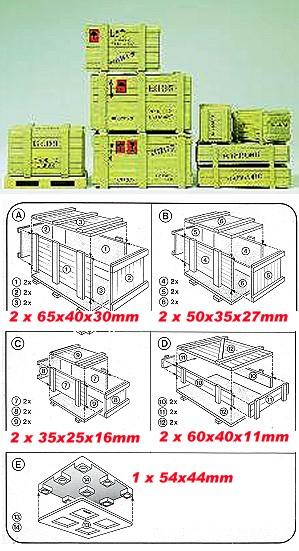 1:22,5 Kisten Sortiment, 8 Stück - Preiser 45200 Grössen s. Details - Kunststoff-Bausatz | günstig bestellen bei Modelleisenbahn Center  MCS Vertriebs GmbH