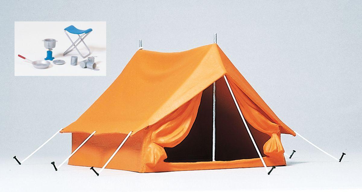 1:22,5 Campingzelt,Zubehör, Bausatz- Preiser 45215  | günstig bestellen bei Modelleisenbahn Center  MCS Vertriebs GmbH