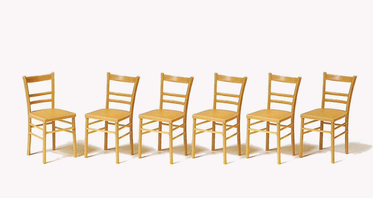 1:22,5 Stühle, 6 St. - Preiser 45219  | günstig bestellen bei Modelleisenbahn Center  MCS Vertriebs GmbH