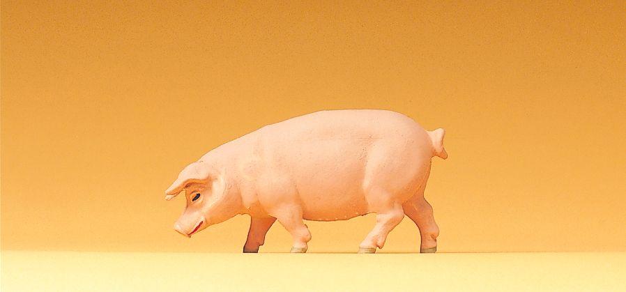 1:25 Schwein, gehend - Preiser 47046  | günstig bestellen bei Modelleisenbahn Center  MCS Vertriebs GmbH