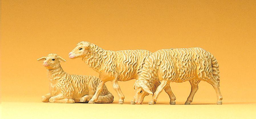 1:25 Schafe, 3 Stück - Preiser 47057  | günstig bestellen bei Modelleisenbahn Center  MCS Vertriebs GmbH