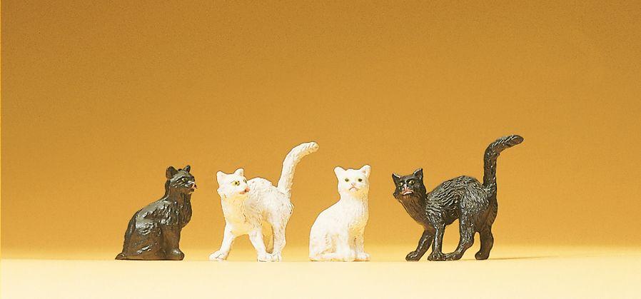 1:25 Katzen, 4 Stück - Preiser 47063  | günstig bestellen bei Modelleisenbahn Center  MCS Vertriebs GmbH
