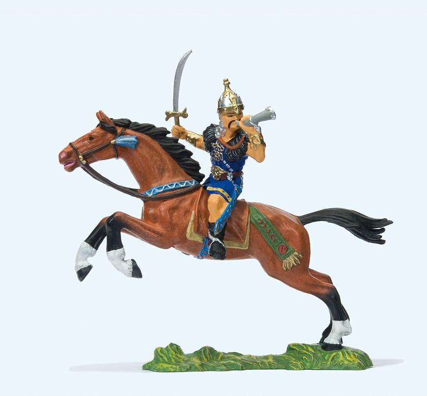 1:25 Hunne zu Pferd mit Schwert  | günstig bestellen bei Modelleisenbahn Center  MCS Vertriebs GmbH