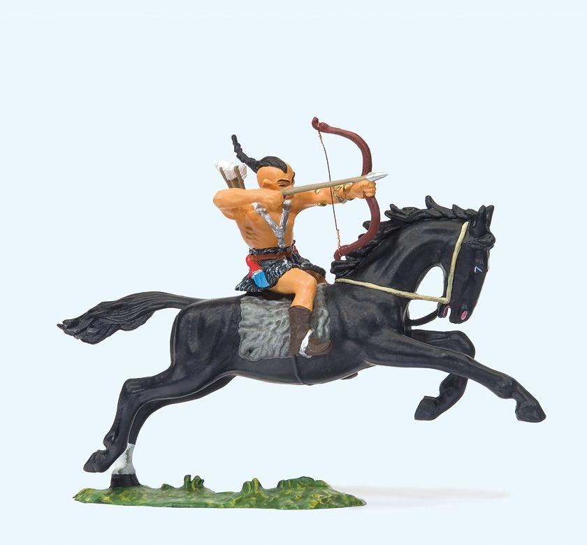 1:25 Hunne zu Pferd mit Bogen schiessend  | günstig bestellen bei Modelleisenbahn Center  MCS Vertriebs GmbH