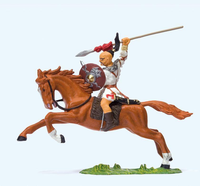 1:25 Hunne zu Pferd mit erhobenem Speer   | günstig bestellen bei Modelleisenbahn Center  MCS Vertriebs GmbH