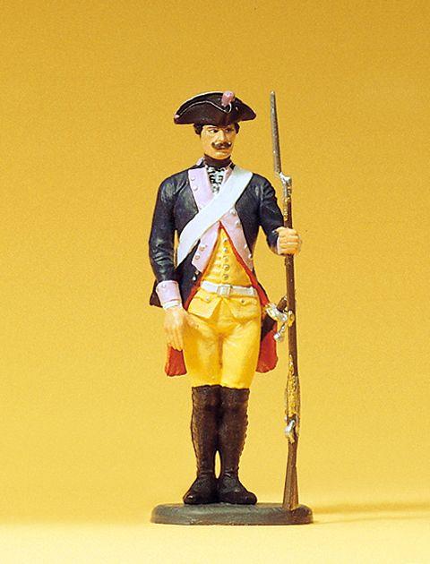 1:24 Preuß. Musketier,stehend mit abgestelltem Gewehr, 7. Infantrie-Regiment - Preiser 54118  | günstig bestellen bei Modelleisenbahn Center  MCS Vertriebs GmbH
