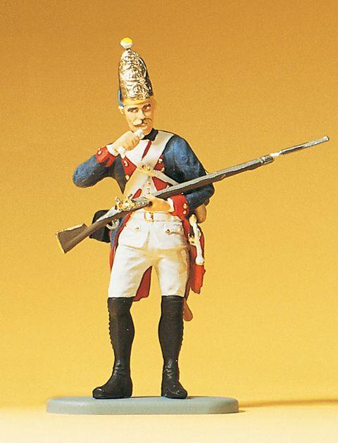 1:24 Preuß.Grenadier m. Gewehr Waffe ladend, 38.Infantrie- Regiment - Preiser 54148  | günstig bestellen bei Modelleisenbahn Center  MCS Vertriebs GmbH