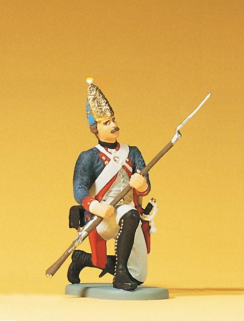 1:24 Preuß.Grenadier, kniend, mit Gewehr, 38.Infantrie- Regiment - Preiser 54150  | günstig bestellen bei Modelleisenbahn Center  MCS Vertriebs GmbH