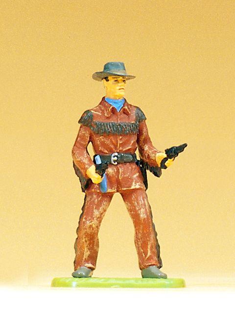 1:25 Cowboy mit 2 Revolvern, stehend- Preiser 54802  | günstig bestellen bei Modelleisenbahn Center  MCS Vertriebs GmbH